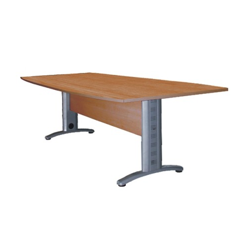 ERGOSTAR Semi Oval Table Metal [DMT-V-200] - Cherry - Meja Meeting